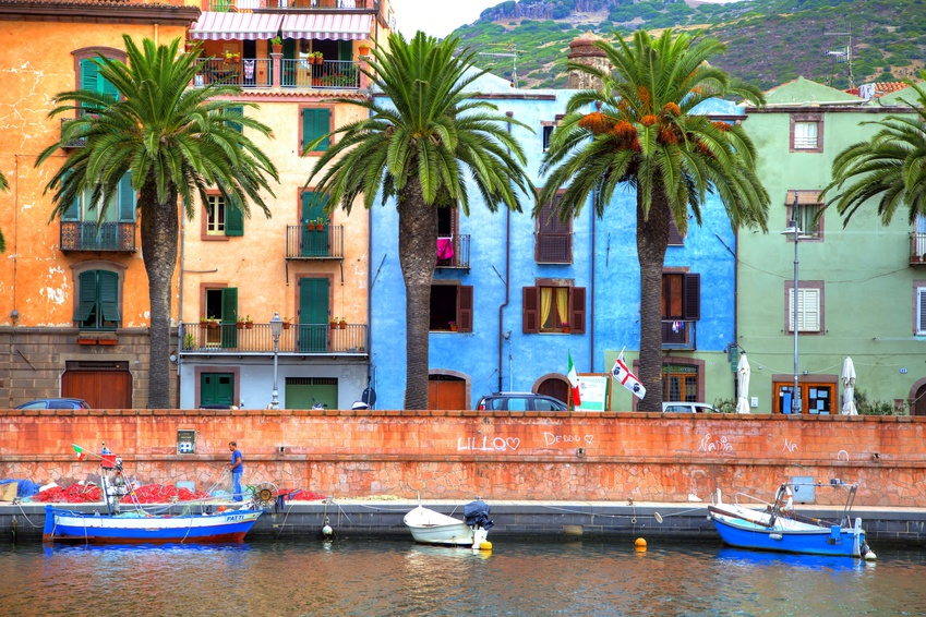 Boats on the river, Bosa, Sardinia